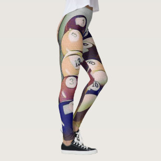 Billiards Pool Balls Games Leggings