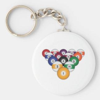 Billiards / Pool Balls: Keychain