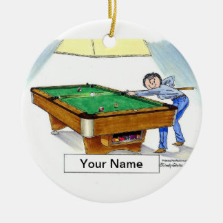 Billiards, Pool Player - Female Ceramic Ornament