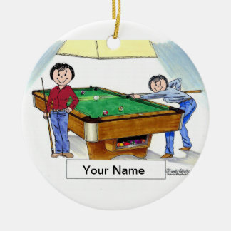 Billiards, Pool Player - Female & Female Ceramic Ornament
