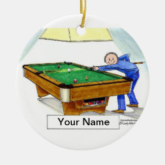 Billiards, Pool Player - Male Ceramic Ornament