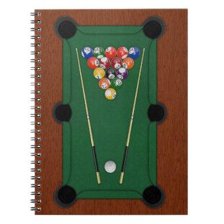 Billiards Spiral Note Book