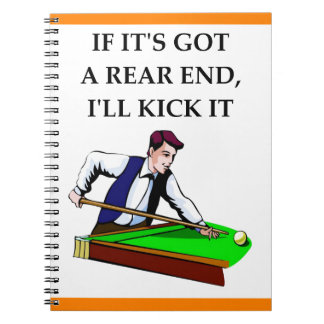 billiards spiral note book