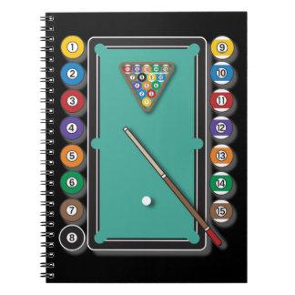Billiards Spiral Note Books