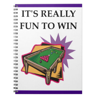 billiards spiral notebook