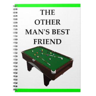 billiards spiral notebook