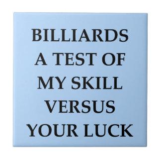 billiards tiles