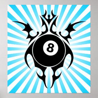billiards : tribalz poster