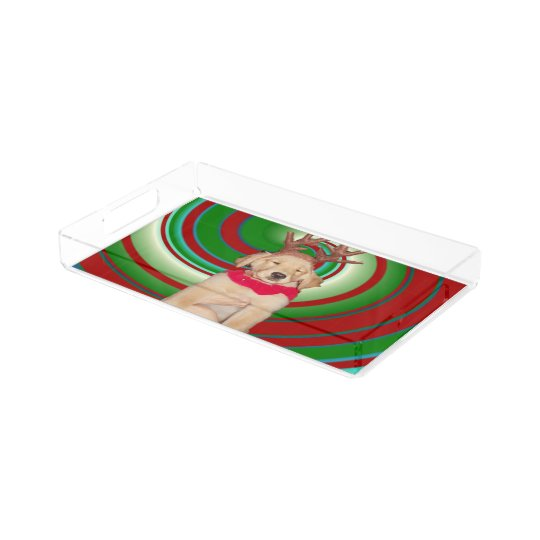 billie-the-golden-reindeer acrylic tray