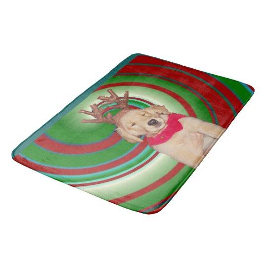 billie-the-golden-reindeer bath mat