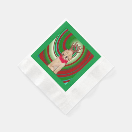 billie-the-golden-reindeer disposable napkin