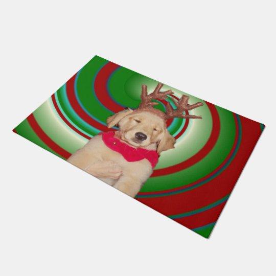 billie-the-golden-reindeer doormat