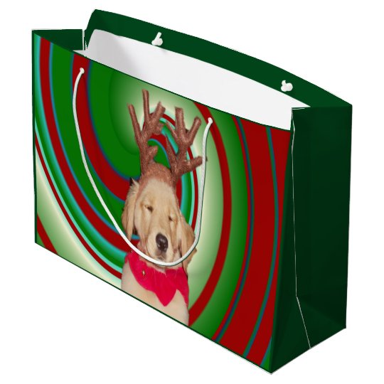 billie-the-golden-reindeer large gift bag