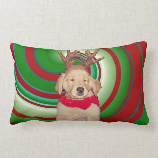 billie-the-golden-reindeer lumbar pillow
