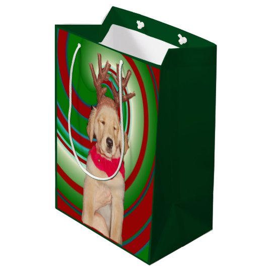 billie-the-golden-reindeer medium gift bag