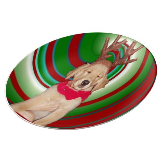 billie-the-golden-reindeer plate