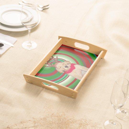 billie-the-golden-reindeer serving tray