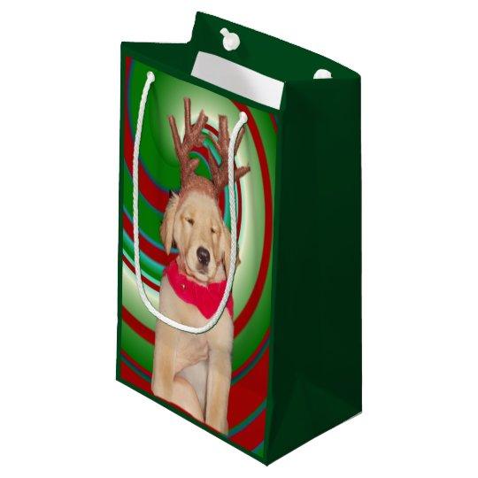 billie-the-golden-reindeer small gift bag