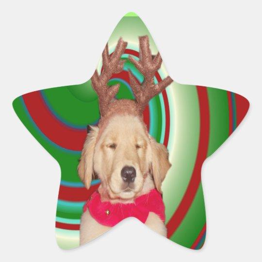 billie-the-golden-reindeer star sticker