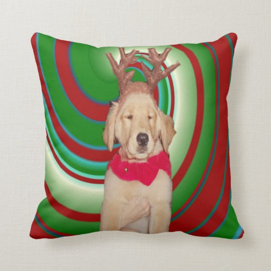billie-the-golden-reindeer throw pillow