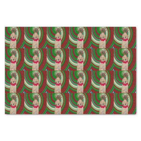 billie-the-golden-reindeer tissue paper