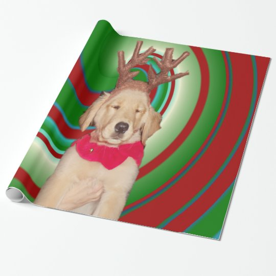 billie-the-golden-reindeer wrapping paper