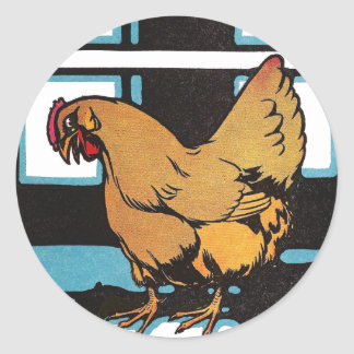 Billina the Yellow Hen Classic Round Sticker