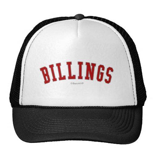 Billings Trucker Hats