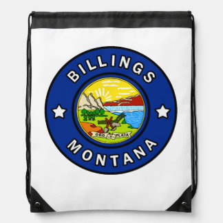 Billings Montana Drawstring Bag