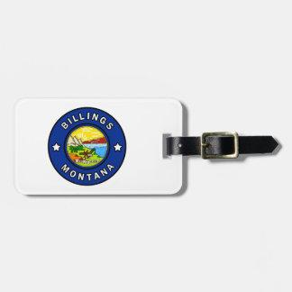 Billings Montana Luggage Tag