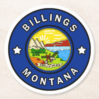 Billings Montana Round Paper Coaster