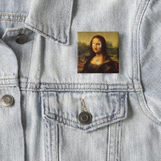 Billion Dollar Mona Lisa Smile 2 Inch Square Button