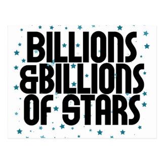 Billions and Billions of Stars Postcard