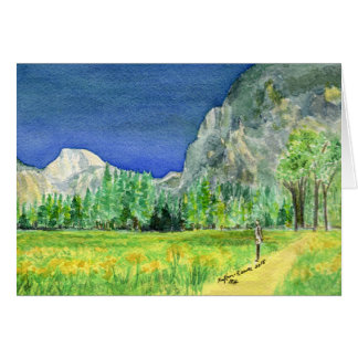Bill's View of HalfDome, Yosemite National Park Card
