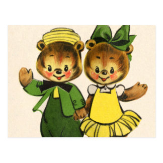 Billy and Betty Bear Postcard
