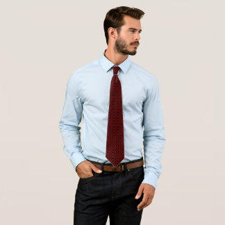 Billy Badass Red Tempest Woven Pattern Tie