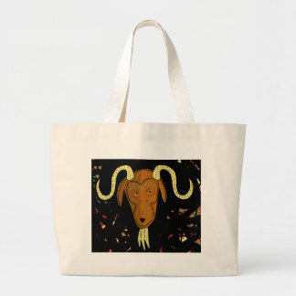 Billy goat 2 large tote bag