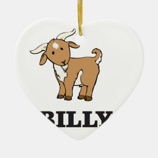 billy goat farm animal ceramic ornament