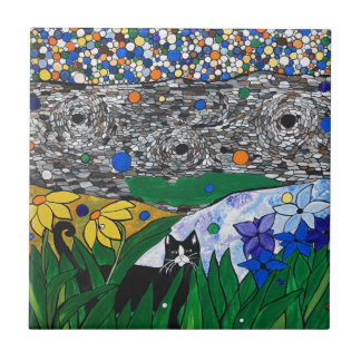billy the cat and his secret garden tile