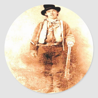 Billy the Kid Classic Round Sticker