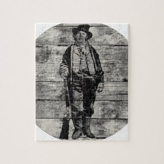 Billy The Kid on Wood Jigsaw Puzzle