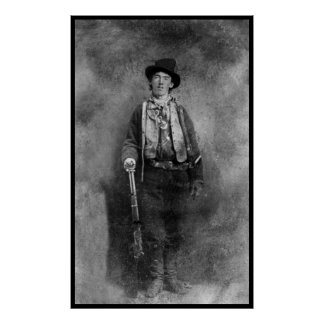 Billy The Kid Outlaw Old West Vintage Photo Poster