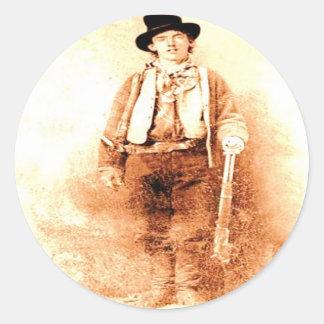 Billy the Kid Round Sticker