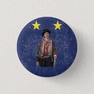 Billy the Kid Texan Burnet Flag 1 Inch Round Button