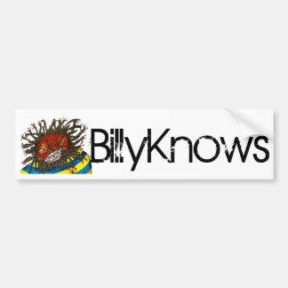 BillyKnows Bumper Sticker