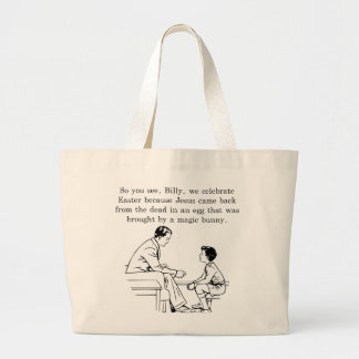 Billy's Easter Lesson Large Tote Bag