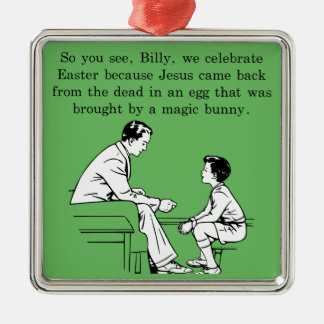 Billy's Easter Lesson Metal Ornament