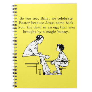 Billy's Easter Lesson Notebook