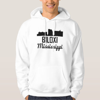 Biloxi Mississippi Skyline Hoodie