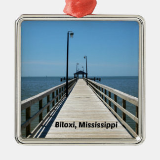 Biloxi, MS Metal Ornament